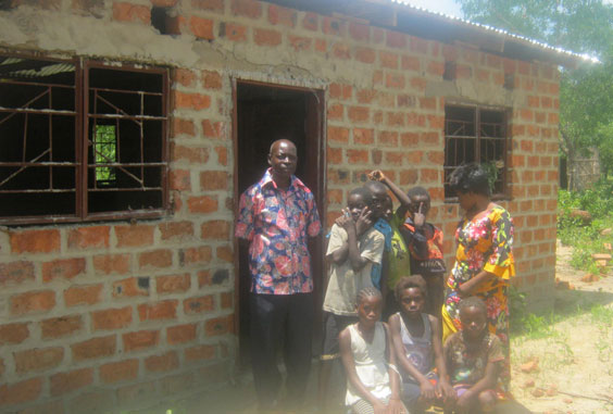 Joan's House, a teachers residence at Chinema being built in honour of Joan Anderson.
